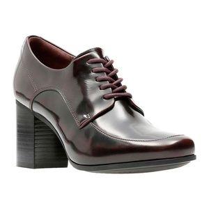 Clarks Kensett Darla Oxford Block Heel Shoes